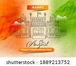 15th august happy independence...   Shutterstock .eps vector #1889213752