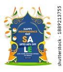 up to 65  off for independence... | Shutterstock .eps vector #1889213755