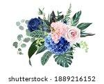 royal blue  navy garden rose ... | Shutterstock .eps vector #1889216152