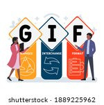 flat design with people. gif  ...   Shutterstock .eps vector #1889225962