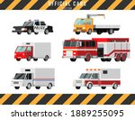 Official Cars Vector Icons Set. ...