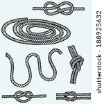 nautical rope knots. isolated...   Shutterstock . vector #188925632