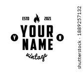 vintage retro badges or... | Shutterstock .eps vector #1889257132