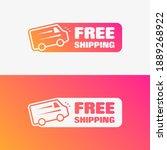 free shipping shopping vector... | Shutterstock .eps vector #1889268922