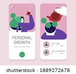 personal growth mobile... | Shutterstock .eps vector #1889272678