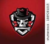 skull cowboy esports logo... | Shutterstock .eps vector #1889281015
