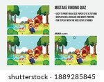 mistake finding quiz   a game... | Shutterstock .eps vector #1889285845