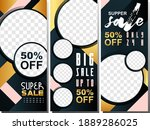 banner sale banner with stand... | Shutterstock .eps vector #1889286025