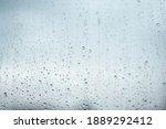 Rainy Drops On Window Glass...