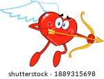 Heart Cupid Cartoon Character...