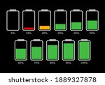 battery ui icon set for app and ...