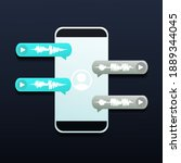 chat up. voice messages bubbles ...