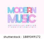 vector trendy poster modern... | Shutterstock .eps vector #1889349172