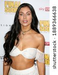 """Small photo of London, United Kingdom - August 30, 2018: Cally Jane Beech attends the World Premiere of """"Final Score"""" at Ham Yard Hotel in London, England."""