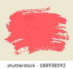 bright pink watercolor brush... | Shutterstock .eps vector #188938592