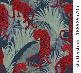 seamless stylish patterns with... | Shutterstock . vector #1889395705