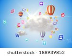 cloud computing graphic with... | Shutterstock . vector #188939852