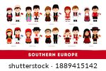 europeans in national clothes.... | Shutterstock .eps vector #1889415142