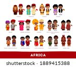 africans in national clothes.... | Shutterstock .eps vector #1889415388