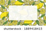 lemon background with place for ... | Shutterstock .eps vector #1889418415