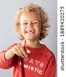 Portrait Of A Cute Boy 5 Years...