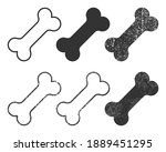 dog bone icon shape symbol. pet ... | Shutterstock .eps vector #1889451295