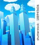 vector illustration of downtown ... | Shutterstock .eps vector #188945606