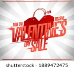 valentine's day sale vector... | Shutterstock .eps vector #1889472475