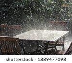 Summer Rain Hitting Patio...