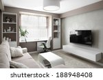 big and bright interior of... | Shutterstock . vector #188948408