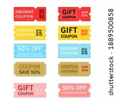 multicolor coupon sale label... | Shutterstock .eps vector #1889500858