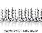 group of zinc coated screws ... | Shutterstock . vector #188950982