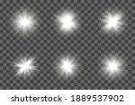 white glowing light flashes... | Shutterstock .eps vector #1889537902
