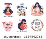 mother's day greeting cards ... | Shutterstock .eps vector #1889542765