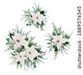 vector watercolor style elegant ... | Shutterstock .eps vector #1889576545