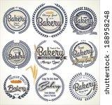 vintage bakery labels set | Shutterstock .eps vector #188958248