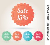 vector sale 15  badge sticker | Shutterstock .eps vector #188959226