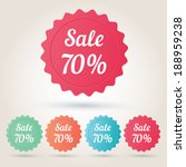 vector sale 70  badge sticker | Shutterstock .eps vector #188959238