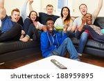 group of friends watching... | Shutterstock . vector #188959895