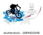 active young man doing tricks... | Shutterstock .eps vector #1889602048