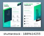 flyer template layout design....   Shutterstock .eps vector #1889614255