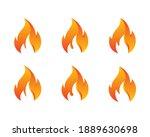 fire flame logo design. fire... | Shutterstock .eps vector #1889630698