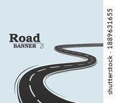 Blue Banner  Long Road. Winding ...