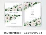 classy winter season wedding... | Shutterstock .eps vector #1889649775
