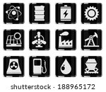 icon set  energy and industry | Shutterstock .eps vector #188965172