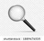 realistic magnifying glass.... | Shutterstock .eps vector #1889676535
