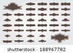 silhouette vector set of 42...   Shutterstock .eps vector #188967782