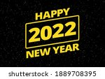 new year 2022 creative wish for ... | Shutterstock .eps vector #1889708395