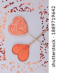 shiny sweet hearts  big and...   Shutterstock . vector #1889719642