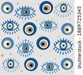 cute seamless design vector... | Shutterstock .eps vector #1889725345
